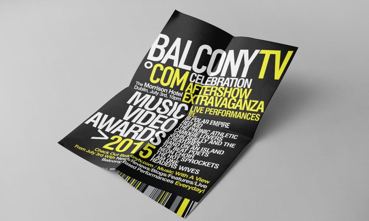 Balcony TV Brand Guide Graphic Design AMP Visual Dublin Ireland