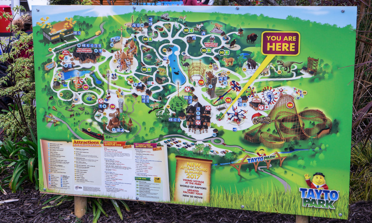 Theme Park Branding and Design Tayto Park Zoo Map Information Signage