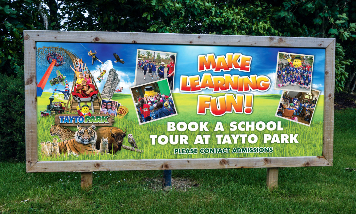 Theme Park Branding and Design Tayto Park Zoo Information Signage