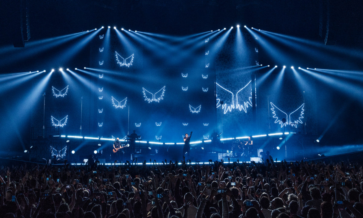 The Script - AMP Visual Icons in use. Photo by Peter Neil.