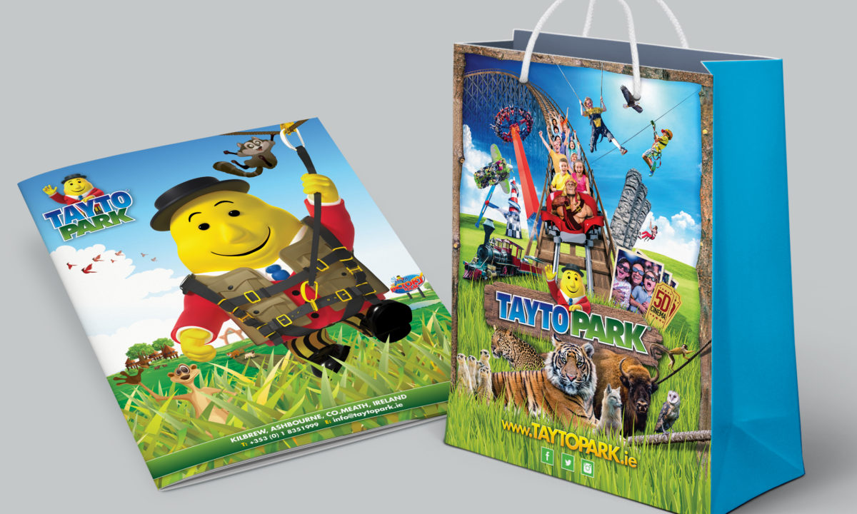 Theme Park Branding and Design Tayto Park Bag and Brochure Design